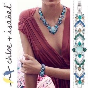 🆕 Peacock Plumes Statement Bracelet c+i B371AQAR
